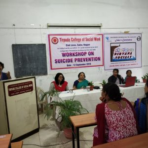Workshop on Suicide Prevention for MSW students